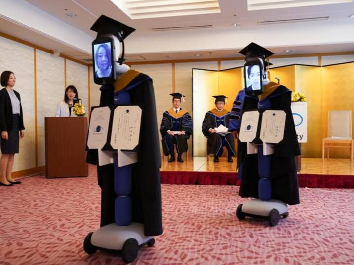 Japanese students virtually graduate thanks to iPads connected to robots