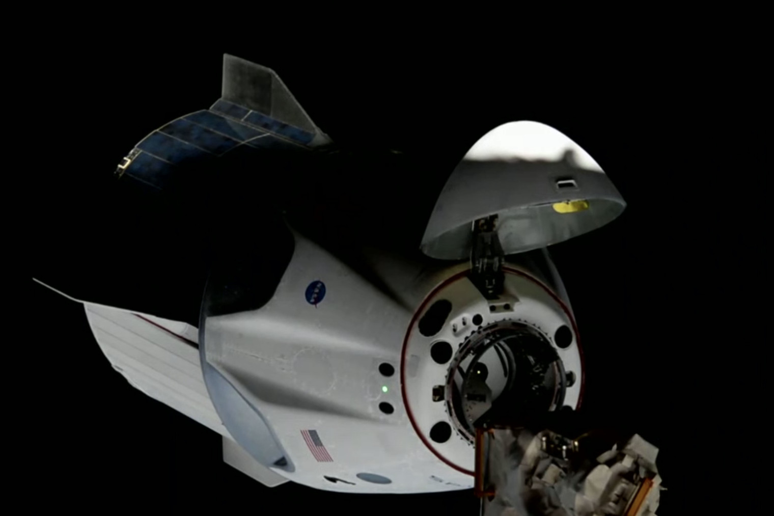 SpaceX's Crew Dragon successfully docks with the space station