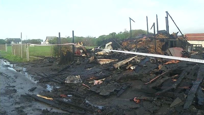 Fire Burns Historic Andreotti Family Farms Barn in Half Moon Bay
